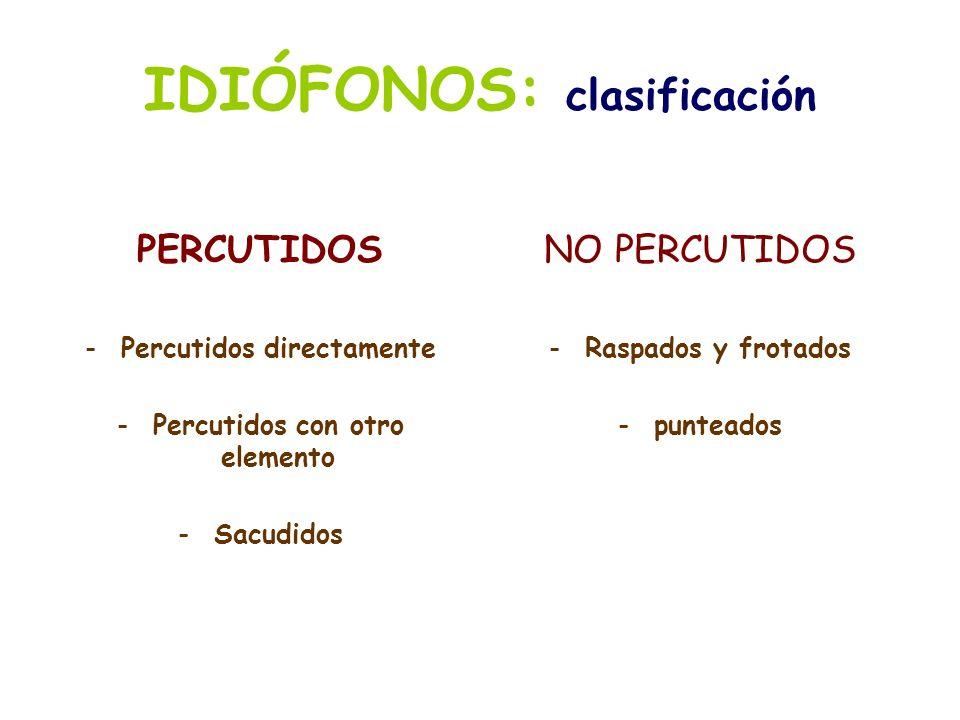 IDIÓFONOS: clasificación