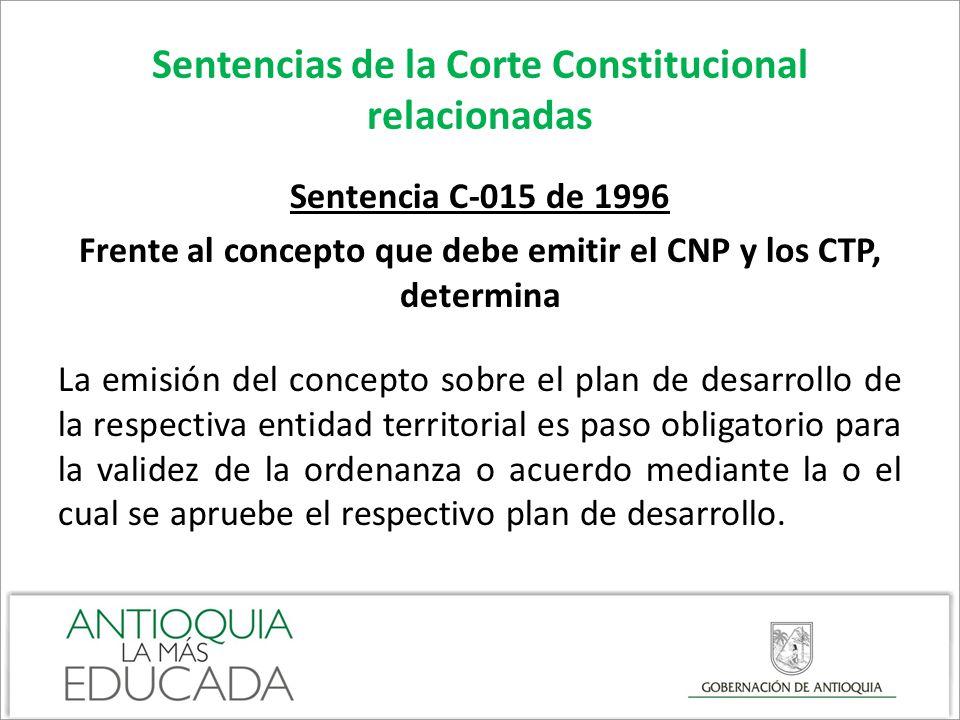 Sentencias de la Corte Constitucional relacionadas