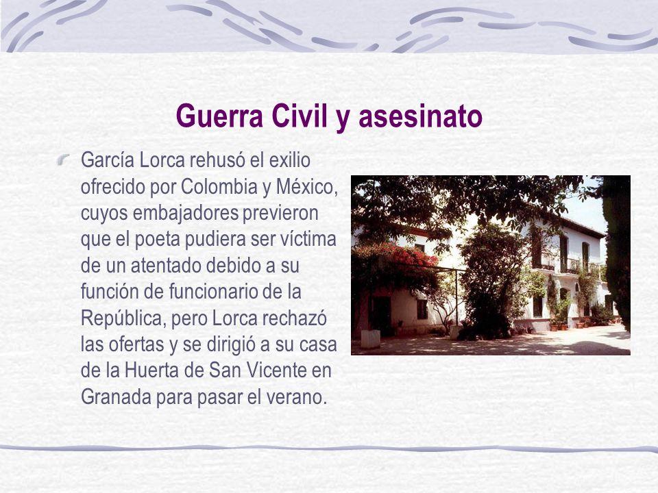 Guerra Civil y asesinato