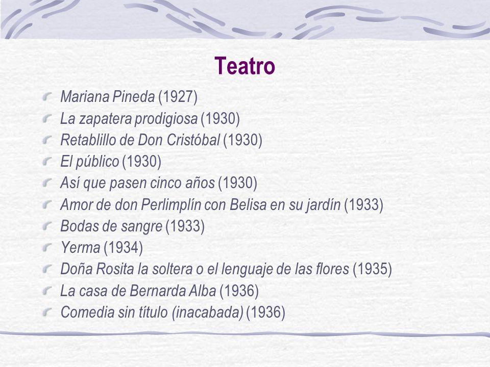 Teatro Mariana Pineda (1927) La zapatera prodigiosa (1930)