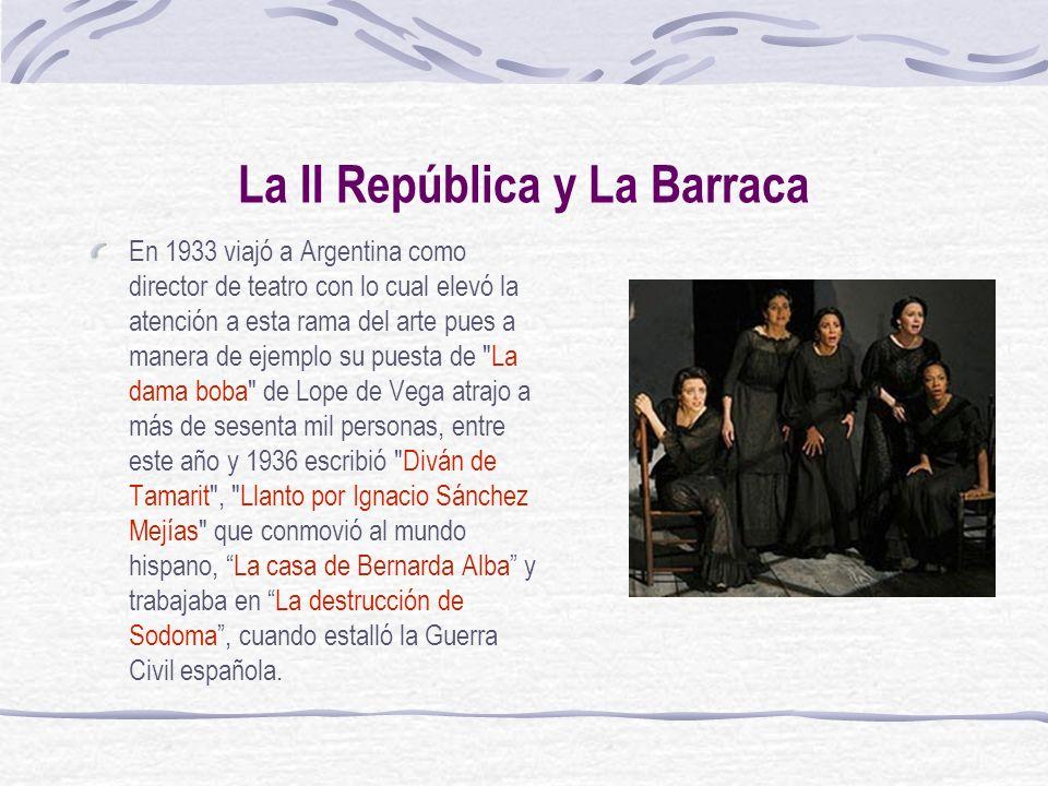 La II República y La Barraca