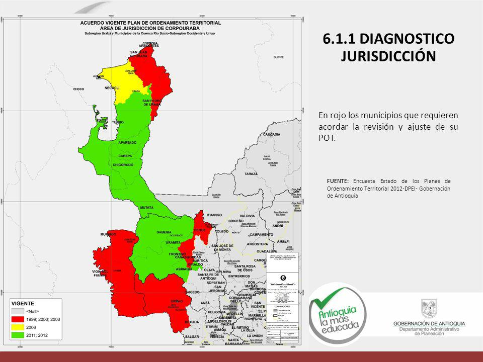6.1.1 DIAGNOSTICO JURISDICCIÓN
