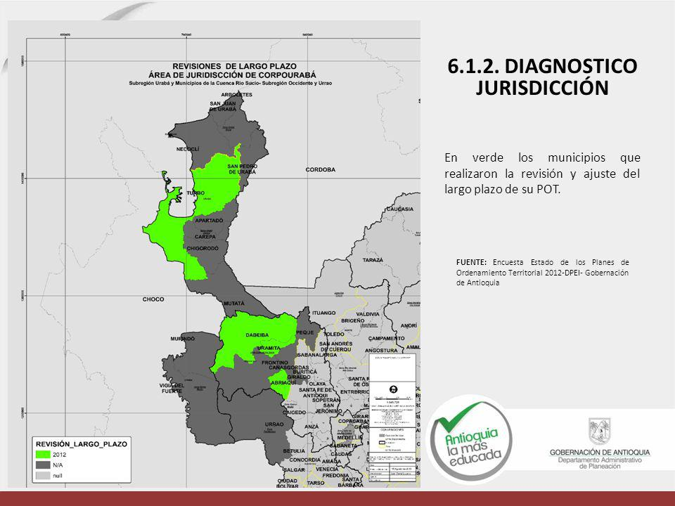 6.1.2. DIAGNOSTICO JURISDICCIÓN