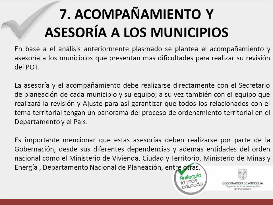 ASESORÍA A LOS MUNICIPIOS