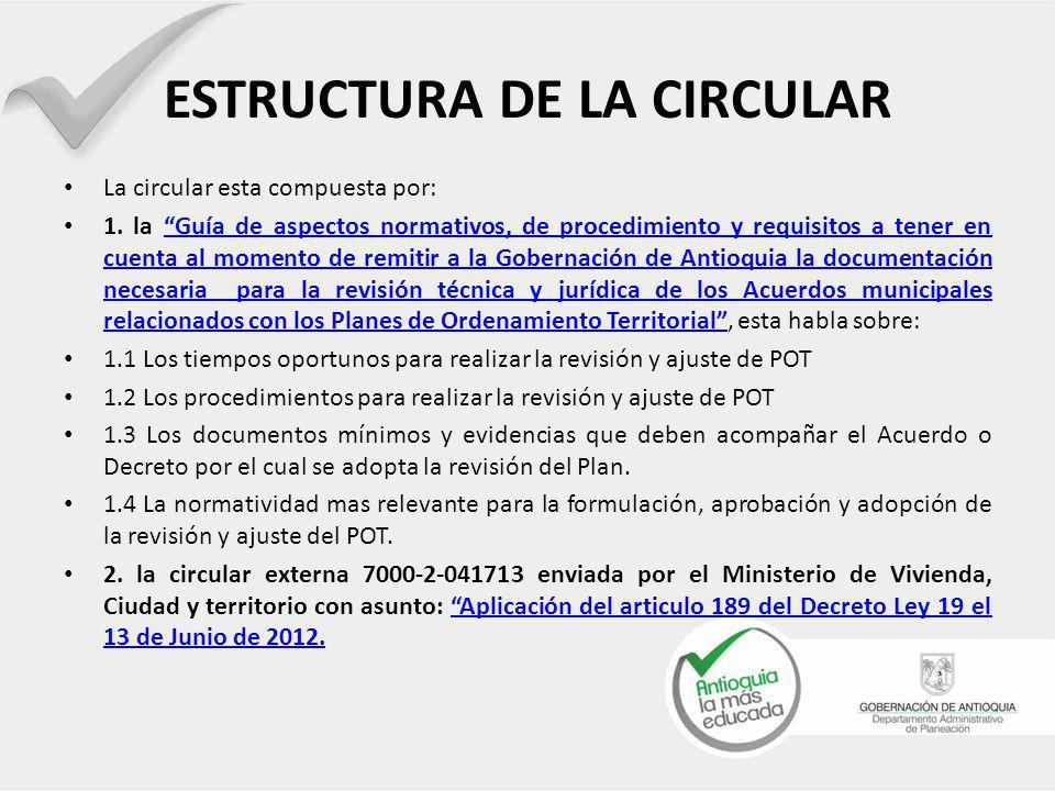 ESTRUCTURA DE LA CIRCULAR