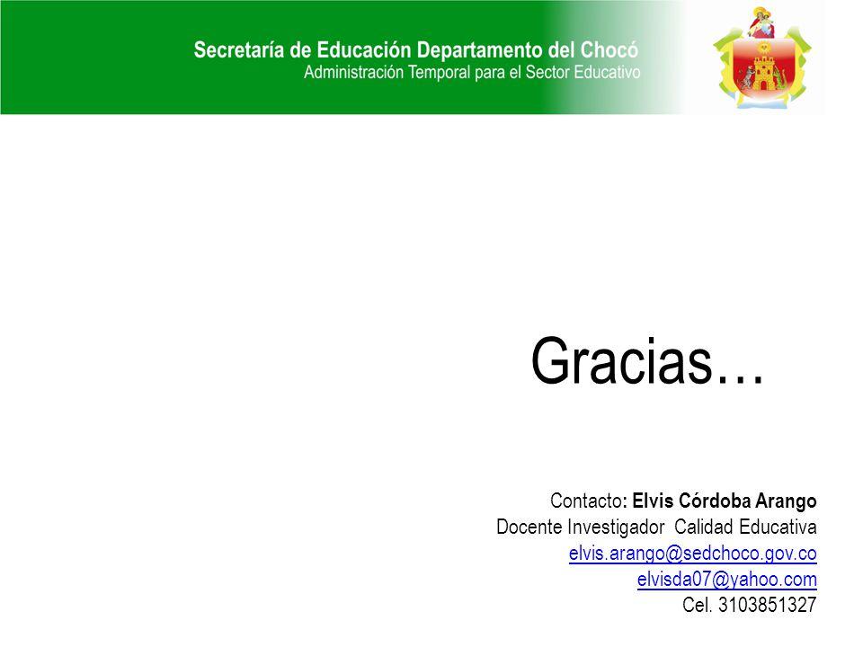 Gracias… Contacto: Elvis Córdoba Arango