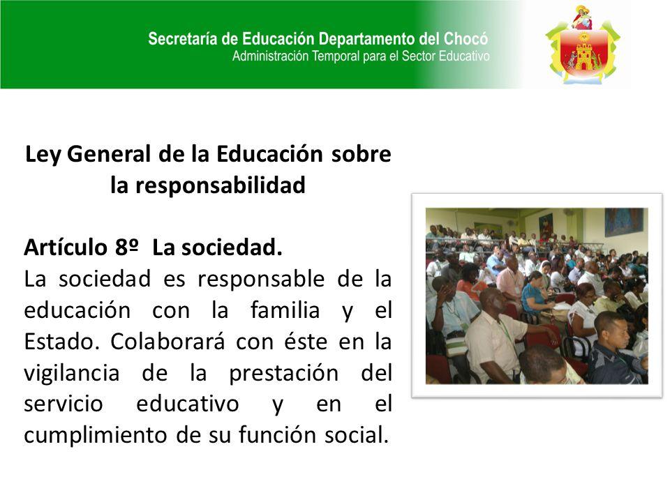 Ley General de la Educación sobre la responsabilidad