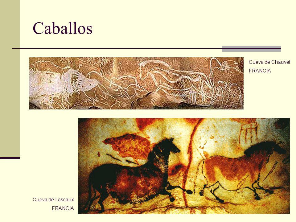 Caballos Cueva de Chauvet FRANCIA Cueva de Lascaux FRANCIA