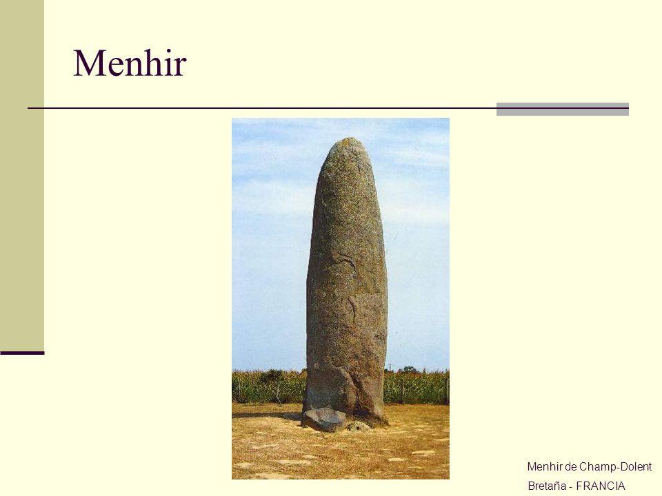 Menhir Menhir de Champ-Dolent Bretaña - FRANCIA