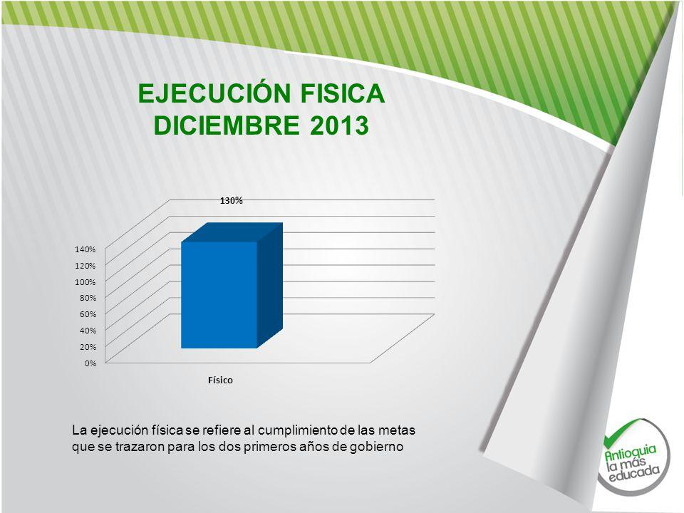 EJECUCIÓN FISICA DICIEMBRE 2013