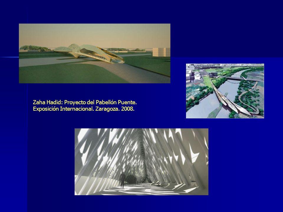 Zaha Hadid: Proyecto del Pabellón Puente. Exposición Internacional