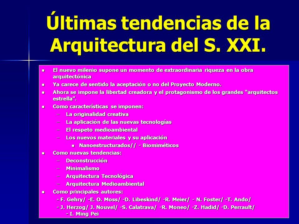 Últimas tendencias de la Arquitectura del S. XXI.