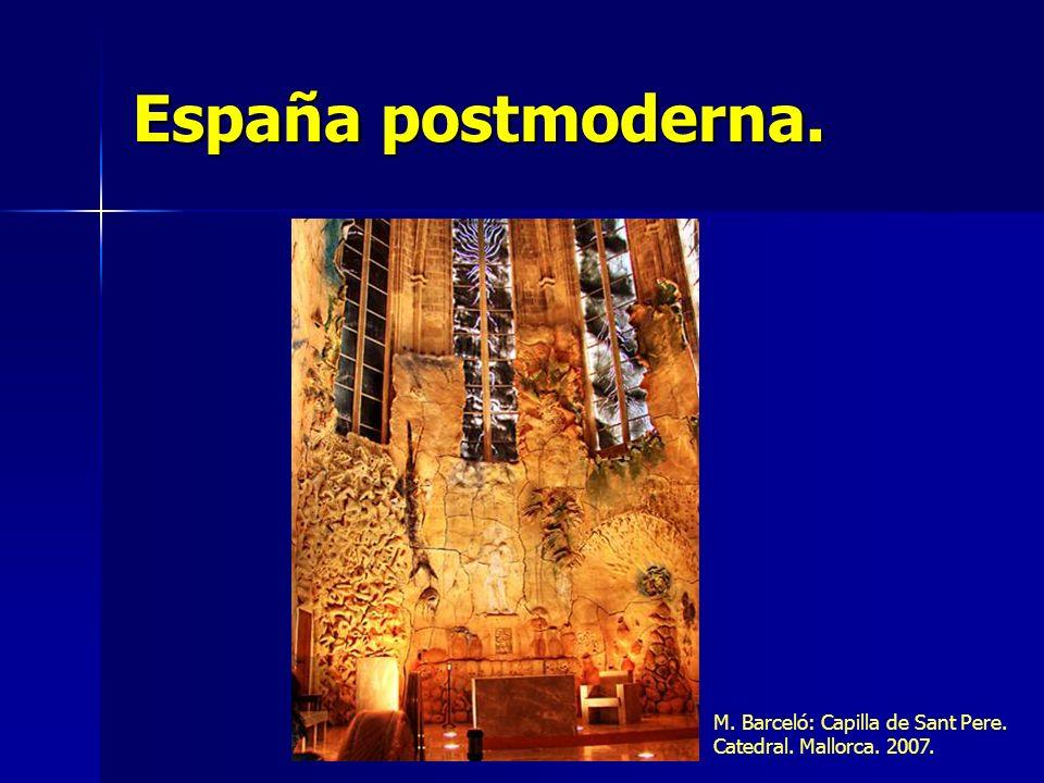 España postmoderna. M. Barceló: Capilla de Sant Pere. Catedral. Mallorca. 2007.