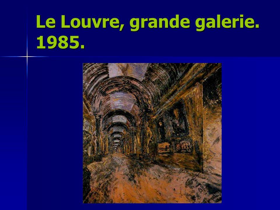 Le Louvre, grande galerie. 1985.