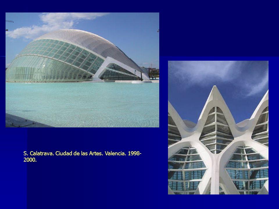 S. Calatrava. Ciudad de las Artes. Valencia. 1998-2000.