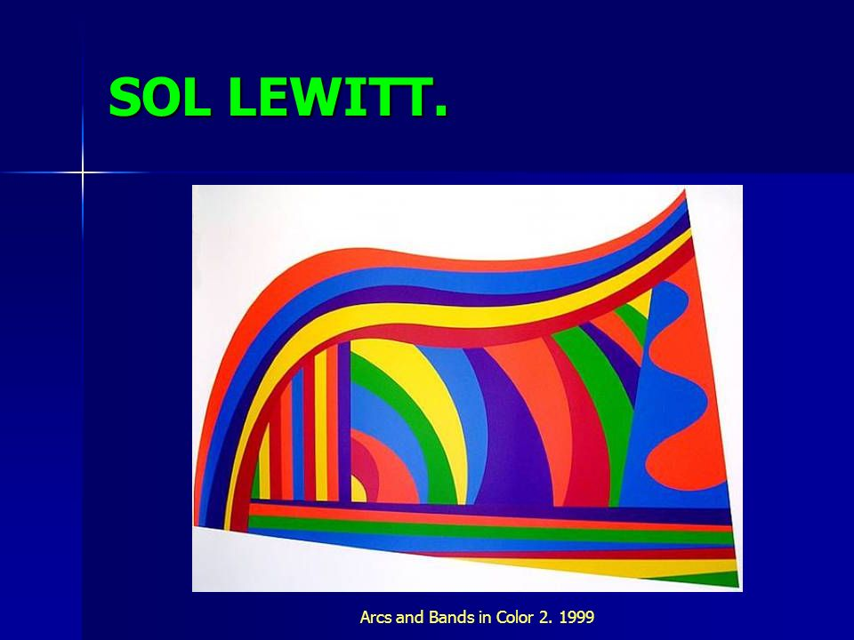 SOL LEWITT. Arcs and Bands in Color 2. 1999