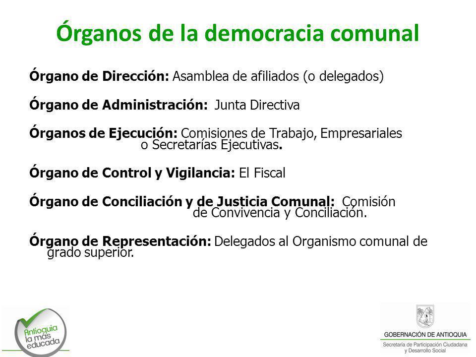 Órganos de la democracia comunal