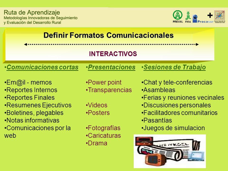 Definir Formatos Comunicacionales
