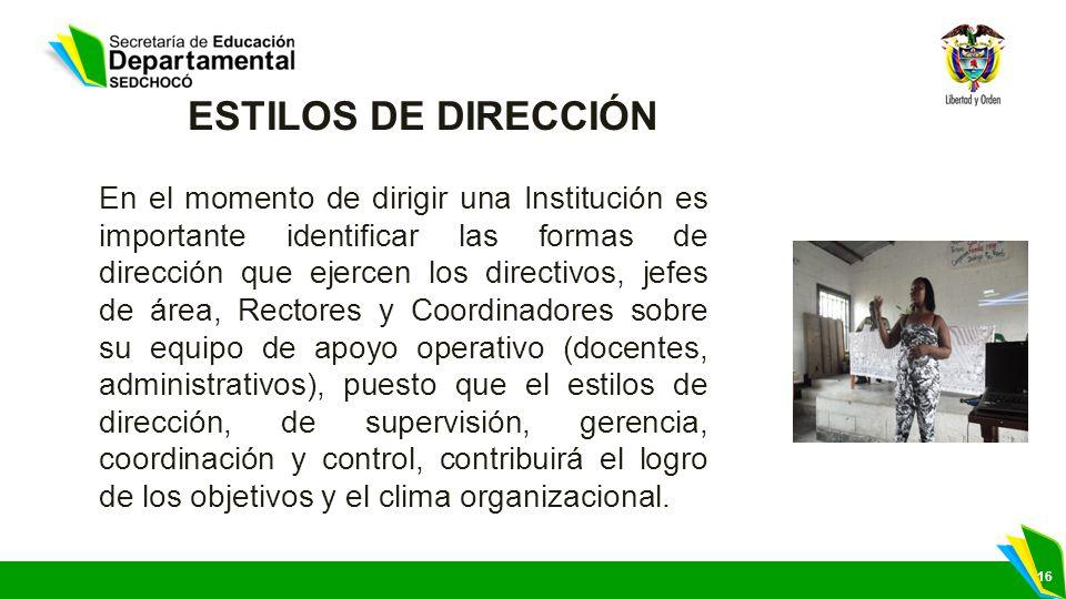 ESTILOS DE DIRECCIÓN