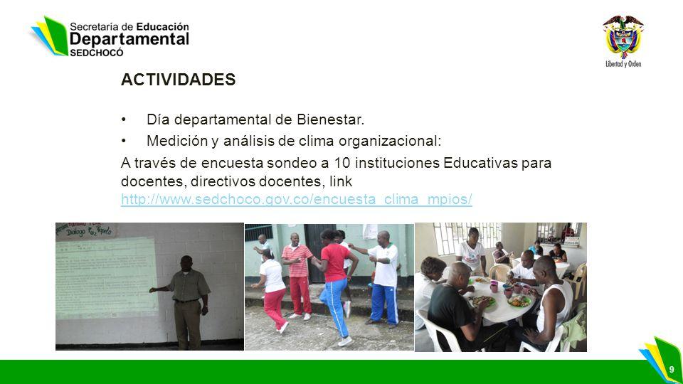 ACTIVIDADES Día departamental de Bienestar.
