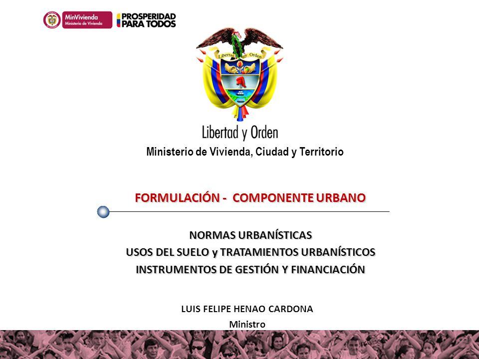 FORMULACIÓN - COMPONENTE URBANO