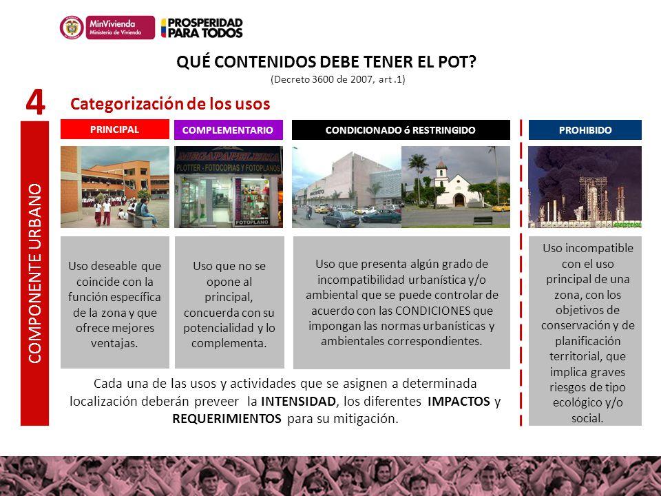 QUÉ CONTENIDOS DEBE TENER EL POT CONDICIONADO ó RESTRINGIDO