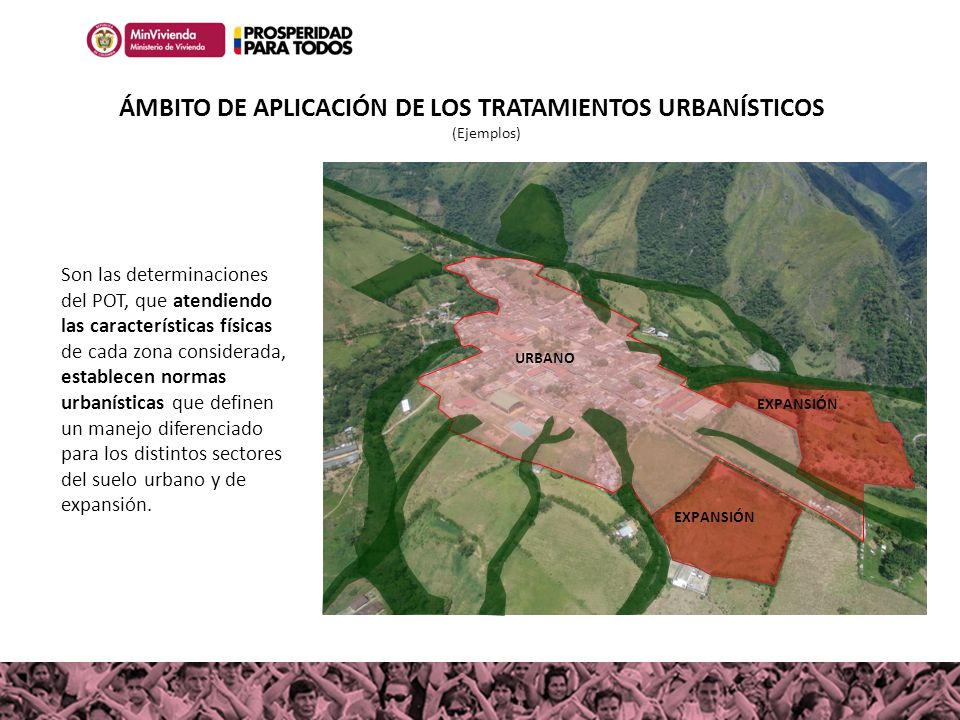 ÁMBITO DE APLICACIÓN DE LOS TRATAMIENTOS URBANÍSTICOS