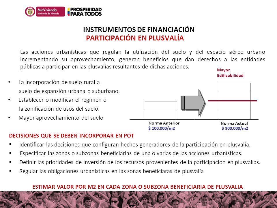 INSTRUMENTOS DE FINANCIACIÓN PARTICIPACIÓN EN PLUSVALÍA
