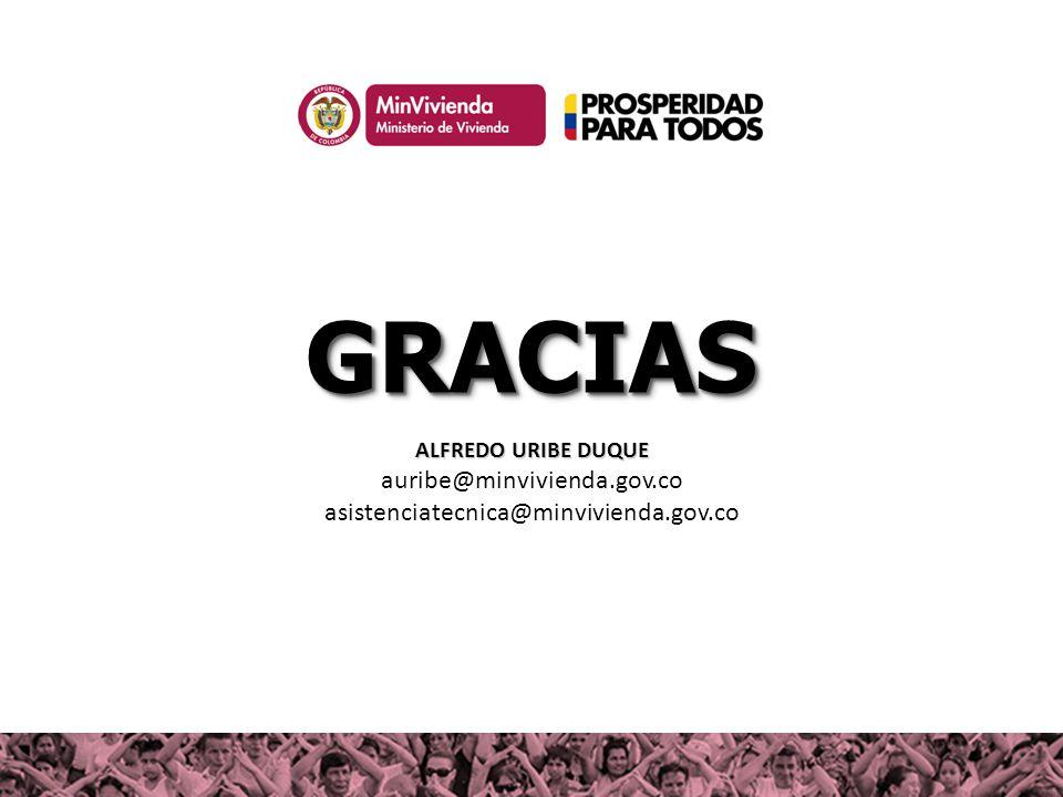 GRACIAS auribe@minvivienda.gov.co asistenciatecnica@minvivienda.gov.co