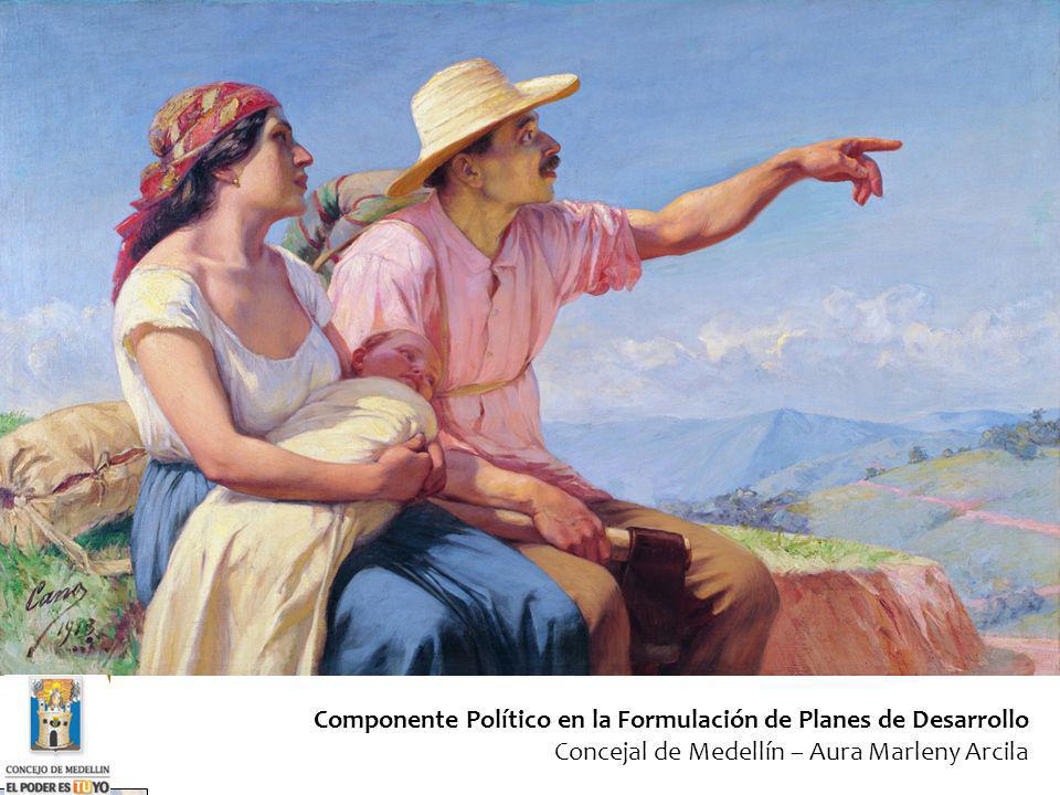 Componente Político en la Formulación de Planes de Desarrollo