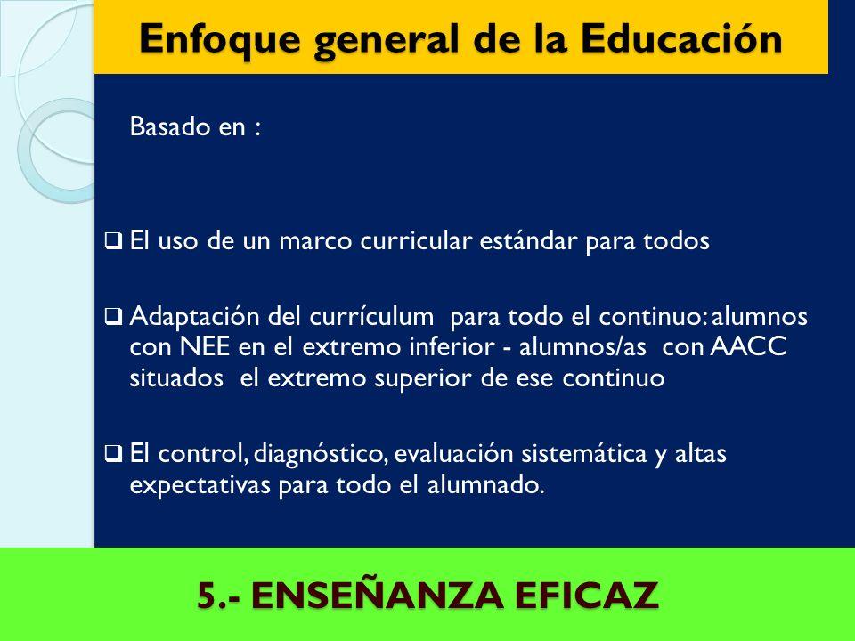 Enfoque general de la Educación