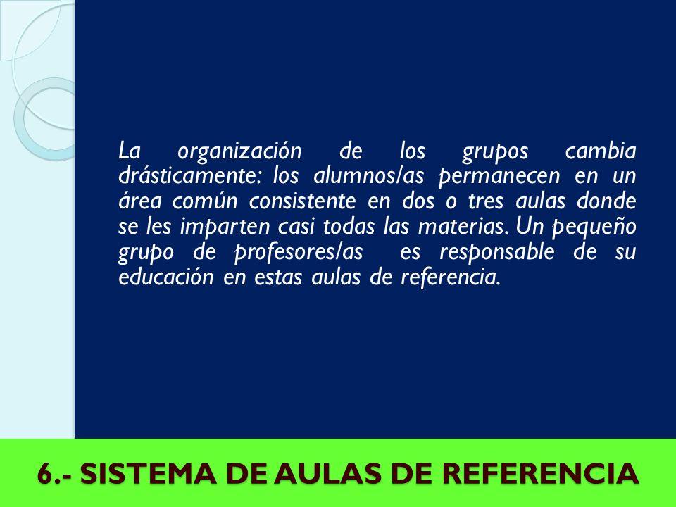 6.- SISTEMA DE AULAS DE REFERENCIA