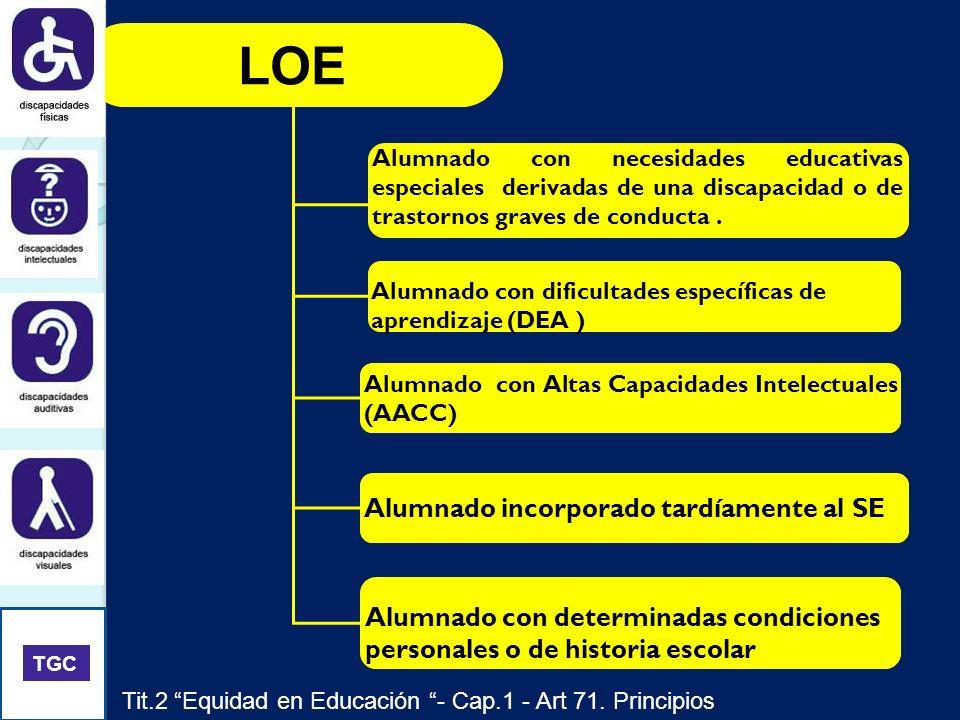 LOE Alumnado incorporado tardíamente al SE