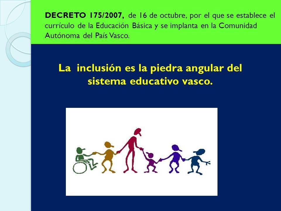 La inclusión es la piedra angular del sistema educativo vasco.