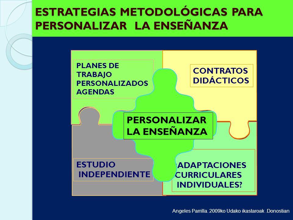 ESTRATEGIAS METODOLÓGICAS PARA PERSONALIZAR LA ENSEÑANZA
