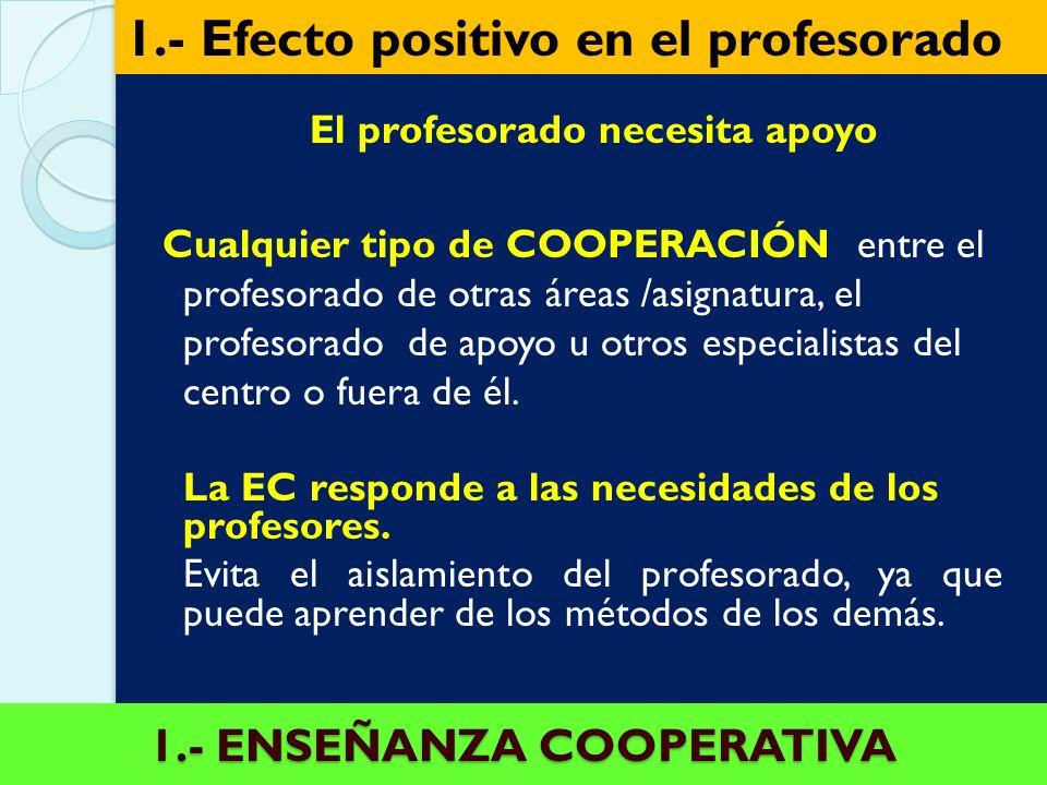 1.- ENSEÑANZA COOPERATIVA
