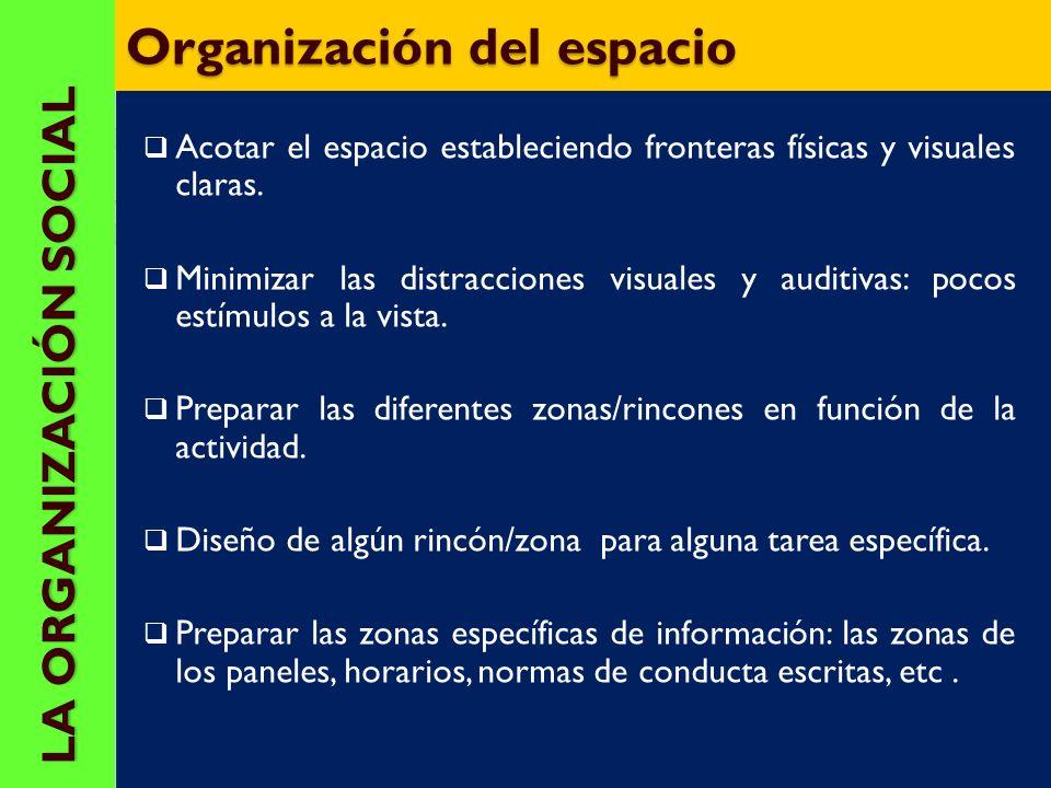 Organización del espacio
