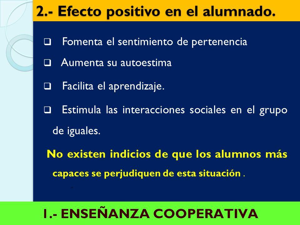 2.- Efecto positivo en el alumnado.