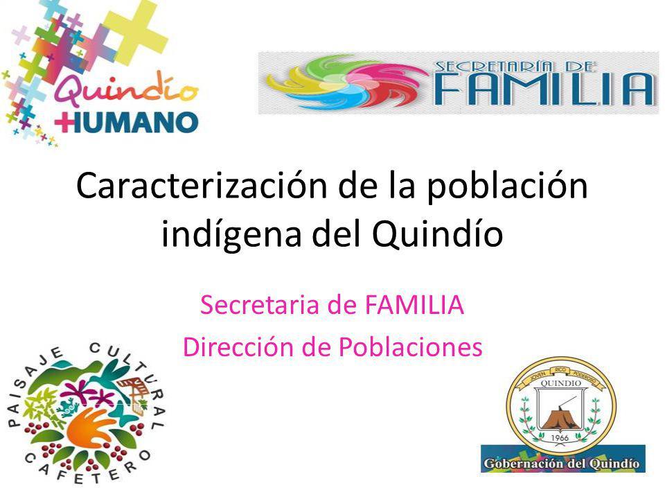 Caracterización de la población indígena del Quindío