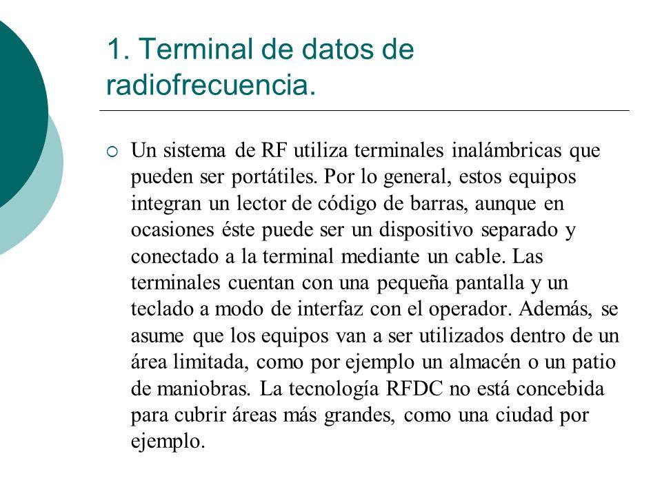 1. Terminal de datos de radiofrecuencia.