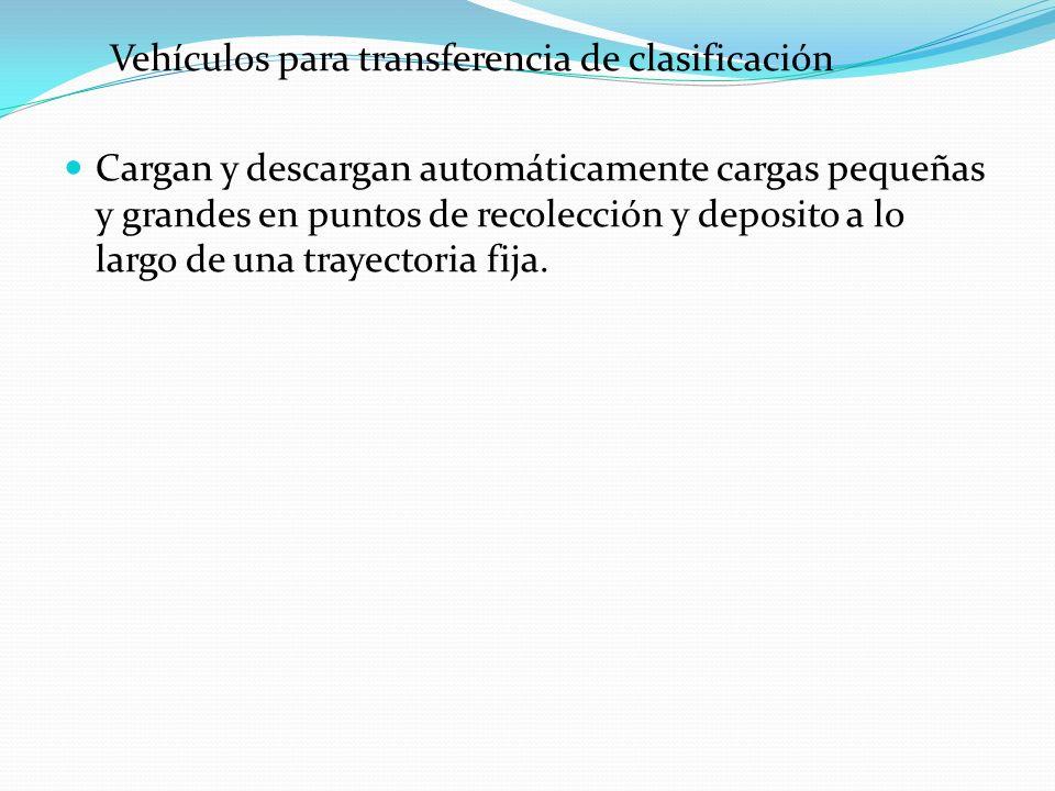 Vehículos para transferencia de clasificación
