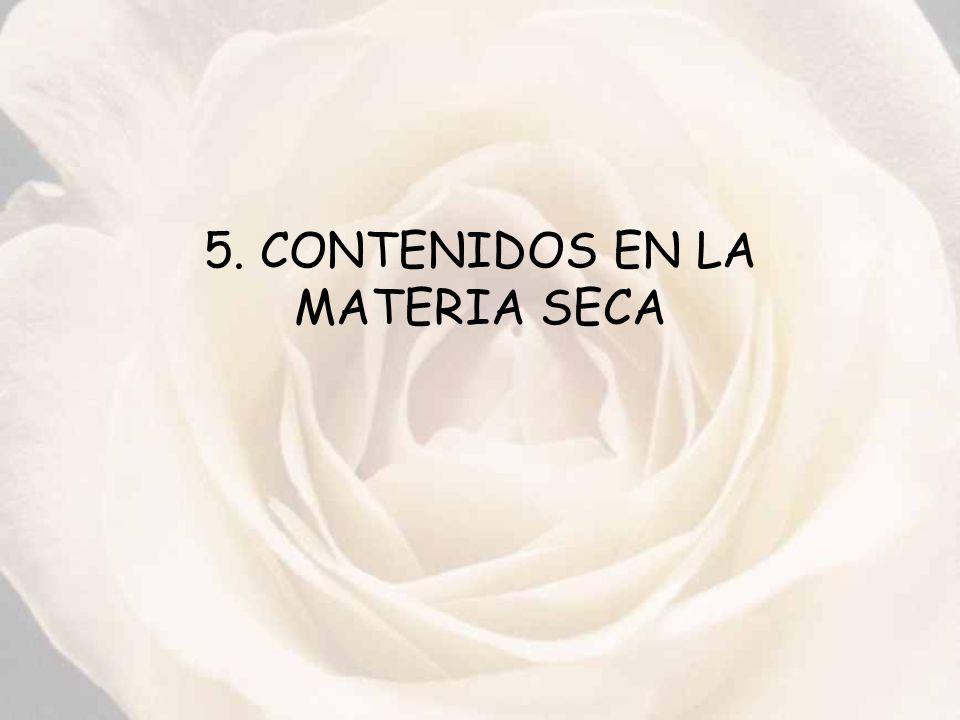 5. CONTENIDOS EN LA MATERIA SECA