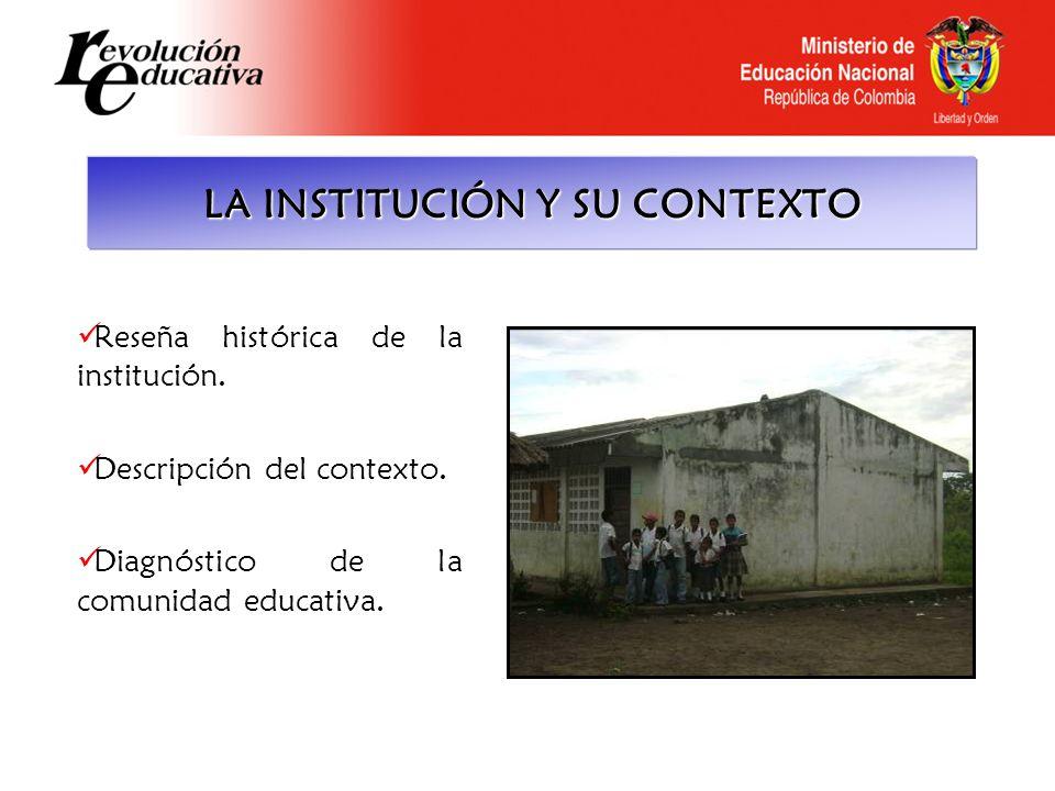 LA INSTITUCIÓN Y SU CONTEXTO
