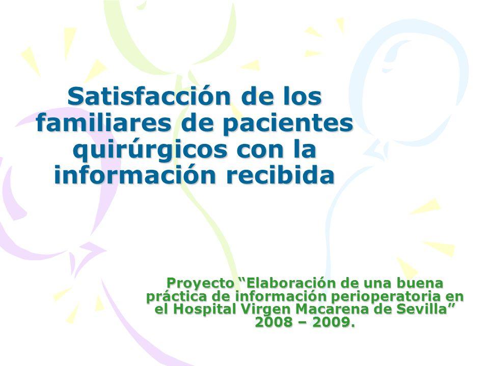 Satisfacción de los familiares de pacientes quirúrgicos con la información recibida