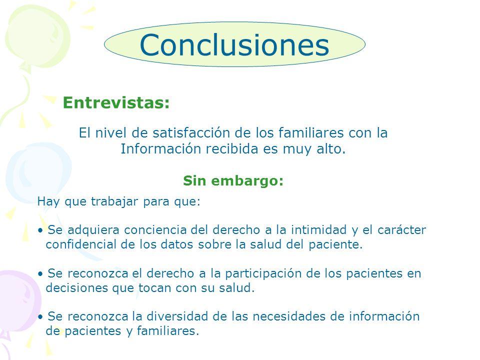 Conclusiones Entrevistas: