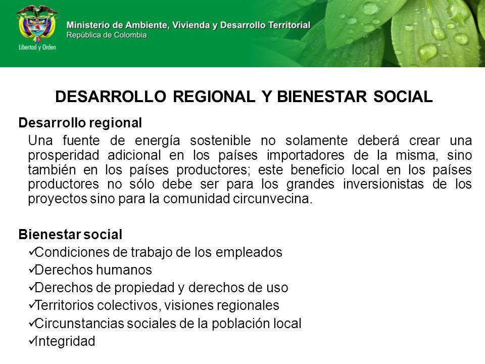 DESARROLLO REGIONAL Y BIENESTAR SOCIAL