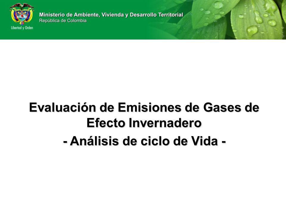 Evaluación de Emisiones de Gases de Efecto Invernadero