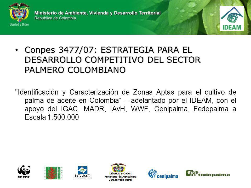 Conpes 3477/07: ESTRATEGIA PARA EL DESARROLLO COMPETITIVO DEL SECTOR PALMERO COLOMBIANO