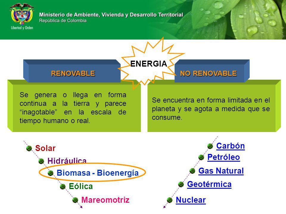 ENERGIA Carbón Solar Petróleo Hidráulica Gas Natural