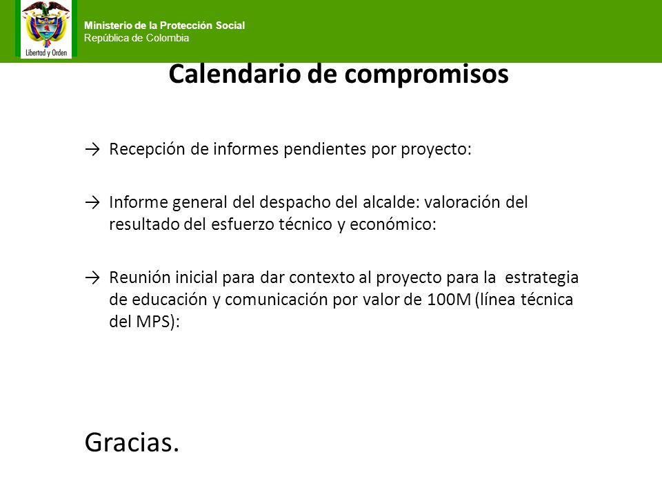 Calendario de compromisos